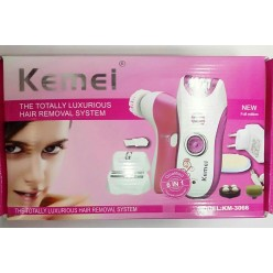 Многофункциональный электрический эпилятор Kemei KM-3066 6 в 1 оптом