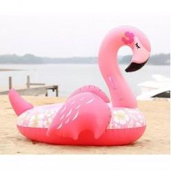Надувной круг Розовый фламинго 150х105см оптом