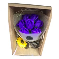Подарочный букет цветов Dear for you 25см х 15см оптом