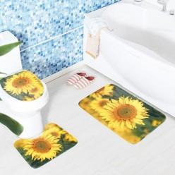 Набор ковриков для ванной и унитаза из 3 предметов оптом