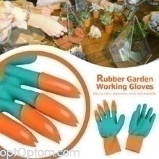 Садовая перчатка с когтями Garden Genie Gloves оптом