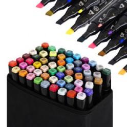 Набор маркеров 60 шт в чёрной сумке оптом