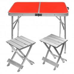 Раскладной стол и два стула для пикника оптом
