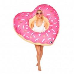 Надувной круг Пончик сердечко 120см оптом