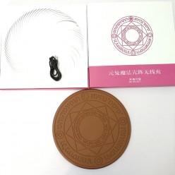 Беспроводное зарядное устройство деревянная монета с рунами оптом