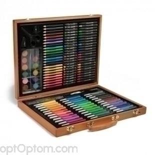 Набор художника 150 предметов в деревянном кейсе оптом