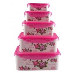 Набор пищевых контейнеров 5 в 1 flower sea оптом