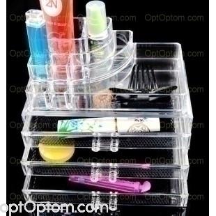 Акриловый органайзер для косметики Upgraded cosmetic storage box 7011-4 оптом