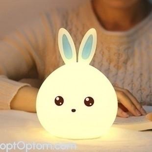 Настольный usb светильник ночник зайчик 18см без пульта оптом
