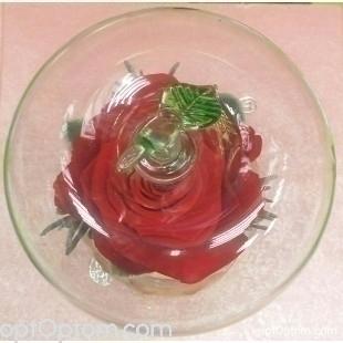 Бутон розы в колбе в подарок оптом