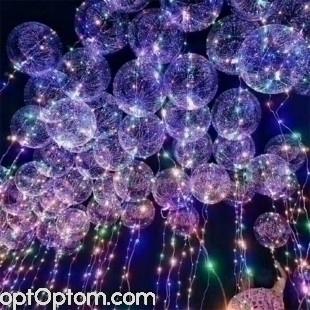 Гелиевые воздушные шары с гирляндой bobo оптом
