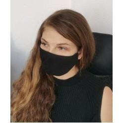 Многоразовая защитная маска чёрная оптом