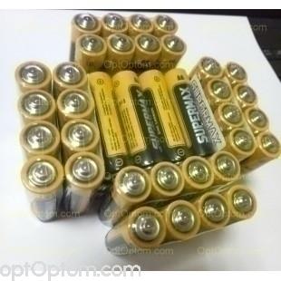 Упаковка пальчиковых батареек из 60 шт оптом