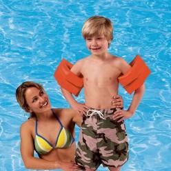Надувные детские нарукавники оранжевые Intex оптом