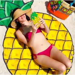 Пляжное полотенце - покрывало Ананас оптом