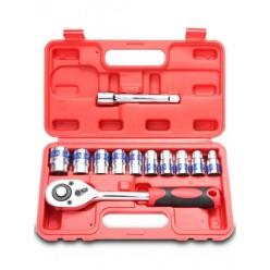 Набор инструментов 12 предметов с трещоткой SATAGOOD G-10014 оптом