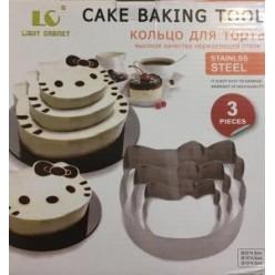 Набор форм из нержавеющей стали Hello kitty Cake Baking Tool (3 шт) оптом