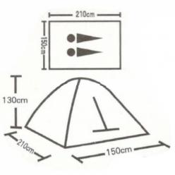 Палатка туристическая 2-местная 1626 оптом