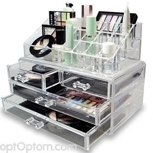 акриловый органайзер для косметики cosmetic storage box оптом