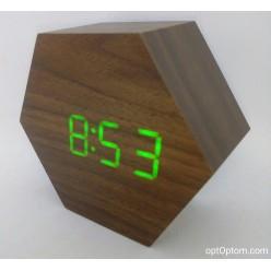 Электронные деревянные часы LED WOODEN CLOCK VST-876 оптом