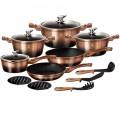 Набор посуды Berlinger House 15 предметов METALLIC LINE оптом