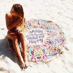Пляжное полотенце покрывало с узором Sunshine on my shoulders оптом