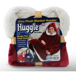 Плед Huggle с капюшоном Ultra Plush Blanket Hoodie оптом