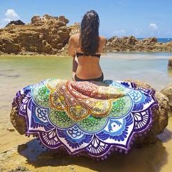 Пляжное покрывало полотенце с яркими узорами оптом