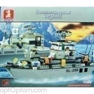 Аналог LEGO Корабль Sl-288 Военно морская серия 449 деталей оптом