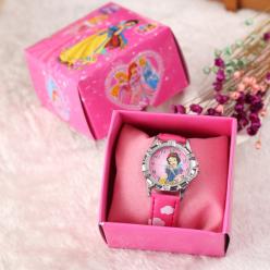 Детские наручные часы Принцессы дисней в коробке оптом