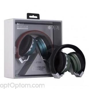 Беспроводные наушники Metal Sport-Beat BT008 (Bluetooth, MP3, FM, AUX, Mic) оптом