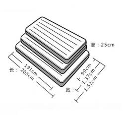 Надувной матрас INTEX 137см х 191см х 25см оптом