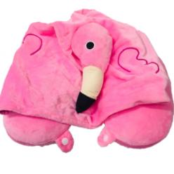Подушка капюшон для путешествий единорог фламинго оптом