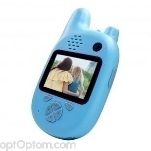 Детский фотоаппарат камера рация Walkie Talkie HD оптом