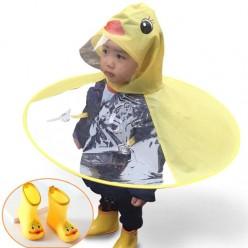 Детский дождевик с капюшоном утенок размер S оптом