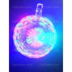 Светящийся Новогодний стакан с ручкой Inductive rainbow COLOR CUR оптом