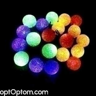 Светодиодная гирлянда цветные шарики оптом