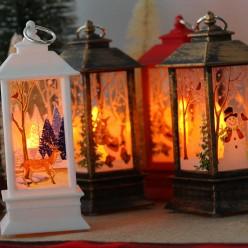 Новогодний фонарь с подсветкой оптом