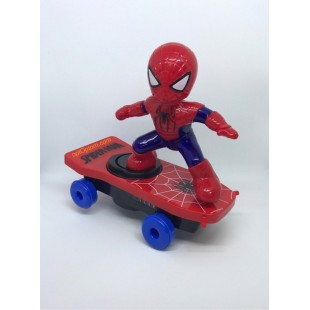 Игрушка человек паук на скейте оптом