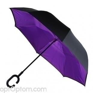 Зонт наоборот антизонт ( Upbrella ) полуавтомат оптом