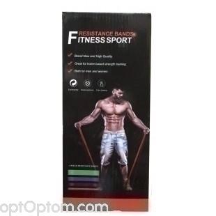 Комплект фитнес-резинок Fitness Sport Resistance Bands оптом