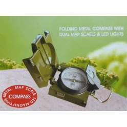 Складной компас камуфляж со светодиодной подсветкой оптом