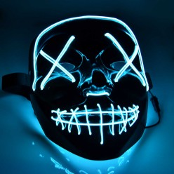 Неоновая LED маска на хеллоуин судная ночь оптом