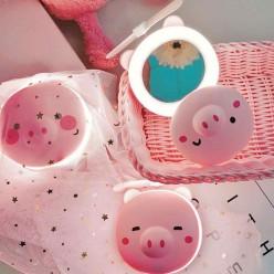 Светодиодное зеркало с вентилятором Свинка оптом