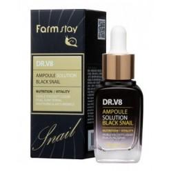 Ампульная сыворотка с муцином черной улитки FarmStay DR-V8 Ampoule Solution Black Snail оптом