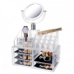 Органайзер для косметики c зеркалом cosmetic organaizer GM - 828 оптом