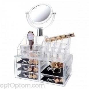 Органайзер для косметики c зеркалом cosmetic organaizer GM-828 оптом
