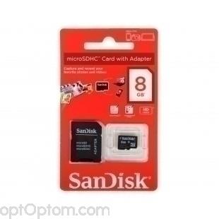 Карта памяти-флэшка SanDisk 8GB оптом