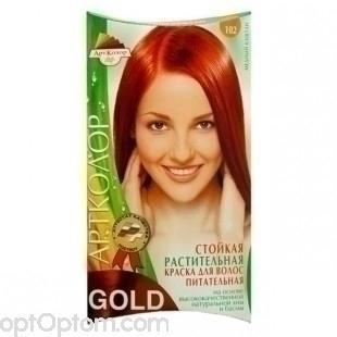 Краска для волос АртКолор Gold 102 медный каштан оптом