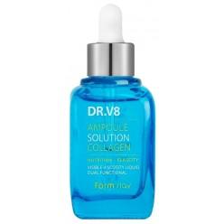 Ампульная сыворотка для лица с коллагеном Farmstay DR.V8 Ampoule Solution Collagen оптом